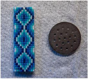 blue micro mosaic