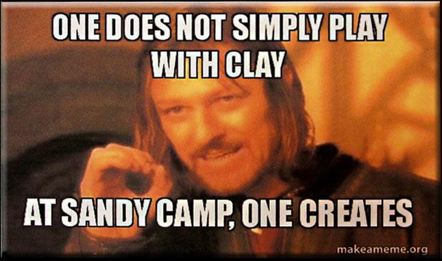 At Sandy Camp One Creates